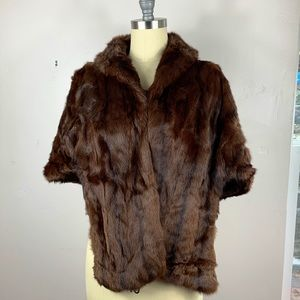Vintage 1950's Furs By Ted Weiss Mink Stole Wrap